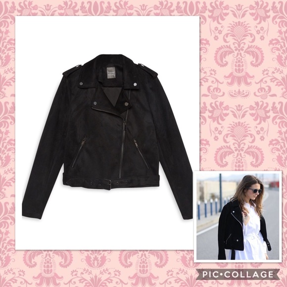 moderate cost big selection special selection of PRIMARK- faux suede biker jacket.